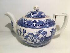 Burleigh Ware Blue Willow Pattern 5 Cup Teapot circa 1930