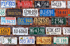 SUPERB RETRO VINTAGE NUMBER PLATES CANVAS #507 QUALITY A1 CAR PICTURE WALL ART