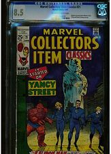 MARVEL COLLECTORS' ITEMS CLASSIC #21 CGC 8.5 1969 SILVER AGE OFF WHITE TO WHITE