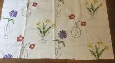 "SANDERSON CURTAIN FABRIC ""Cut Flowers"" EMBROIDERED 77cm Multi"