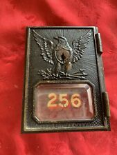 vintage post office box door, Circa 1892-1895 Federal Eagle w/ beveled glass