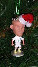 Wayne Rooney England kit Custom Christmas Ornament w/Santa Hat and 2018 charm