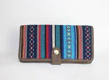 Hippie Womens Vegan boho handmade aztec pattern funky money coin wallet/purse