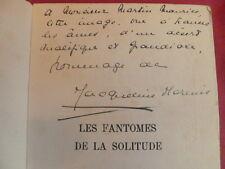 Jacqueline Marenis Les fantômes de la solitude, avec envoi de l'auteur !