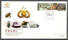 INDONESIË 1.JULI.2001 - FDC POLRI - THE INDONESIAN NATIONAL POLICE         Ms263