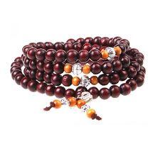 Buddhistische Gebetskette 108 x 8 mm Sandelholz Perlen Mala Rosary Holz Armband