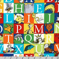 Dr Seuss ABC Alphabet Adventure The Cat In the Hat Fabric