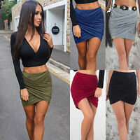 Womens Bodycon Girls Pencil Skirt Stretch Ladies Midi Party Office school Skirt