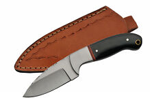 "Hunting Knife | 7"" Overall Full Tang Horn Handle Skinner Blade + Leather Sheath"