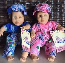 "(2) Palm Pal Bean Bag Kids, 8.5"" Tall Boy And Girl Twins set 1996"