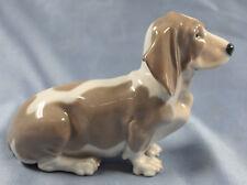 Basset hound hundefigur hund Porzellanfigur Royal copenhagen porzellan figur