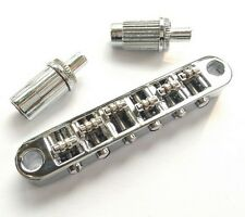 Chrome Tune-O-Matic Roller Guitar Bridge for LP SG ETC Style Guitars#LP25