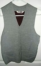 """40/50S Rugby Sportswear For All Good Sports~Wool Vest W/Pockets Sm 30"""" Chest"""
