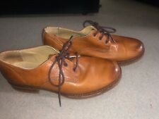 FRYE Veronica Brown Leather Lace Up Oxfords Shoes Women's Size 8B