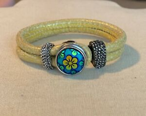 Yellow Snap Bracelet - fits Ginger, Noosa, Other Snaps