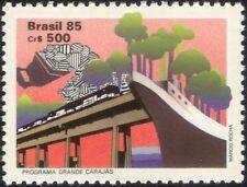 Brasil 1985 Ferrocarril/Tren/Barco/transporte/árboles/Carbón/comercio y la industria 1 V (n25135)