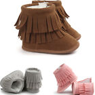 Baby Moccasin Tassels Newborn Snow Boots First Walkers Winter Warm Baby Boots