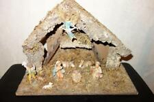 VINTAGE NATIVITY SET 8 FIGURES SET WITH MANGER MADE IN ITALY