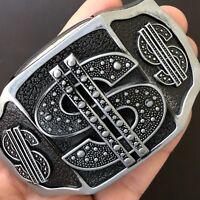 Dollar Belt Buckle Usa 3D Removable Lighte High Quality Cowboy Men