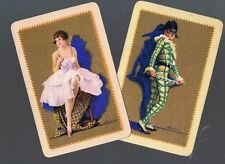PLAYING CARDS *SWAP CARDS*2 VINTAGE ENGLISH NAMED  LADIES  GENTS  PR 1930/40'S