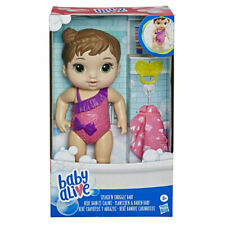 Baby Alive: Splash 'n Snuggle - Baby Brunette Doll by Hasbro Toys
