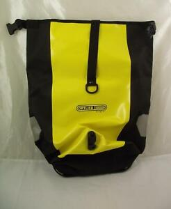 Ortlieb Waterproof Classic Bag Black Yellow Roll-top Backpack / Messenger Bag
