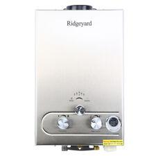 Family 8L Tankless Water Heaters Liter LPG Gas Digital Display Boiler w/ Shower