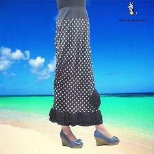 SHARON TANG Modest Apparel Long Polka Dot Flower Ruffle Skirt M ST132080019-30