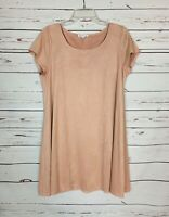 Socialite Nordstrom Women's Sz L Large Pink Short Sleeve Cute Spring Soft Dress
