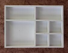 Boîte à Casiers Boite de semences 12291 Blanc 32 cm en bois vitrine