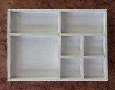 Clasificación Expositor 12291 Blanco 32cm de madera Vitrina colección Bandeja