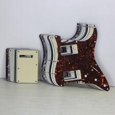 3Ply/4Ply Strat Guitar HH Pickguard 11Holes Scratch Plate + Back Plate + Screws