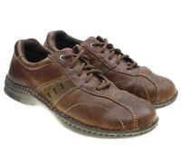COLUMBIA JAMES Fashion Sneaker Shoes Pebbled Leather Brown Mens Size 9.5