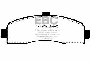 # DP946 EBC Ultimax FRONT Brake Pads fit NISSAN Micra