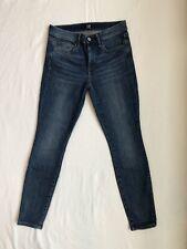 GAP Womens True Skinny Jeans Med Wash Slight Distressing 27 Short