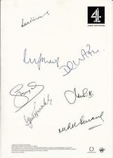 Channel 4 Cricket TV Commentators x 7 - Channel 4 Signed Letterhead - UACC RD223