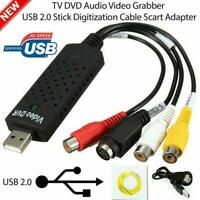 VHS to Digital Converter USB 2.0 Audio/Video Capture Linux For Windows O3S4