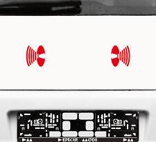 2 Aufkleber 8cm rot Lautsprecher Symbol Auto Tattoo Deko Folie Depeche Mode