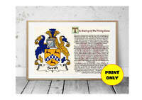 A4 Surname Family Name Meaning History Origin Print Coat of Arms 1 Personalised