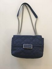 [Pre]Loved Marc by Marc Jacobs *Rebel 24* Quilted Leather Chain Blue Crossbody