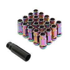 (20) 12x1.25 Lug Nuts | Neochro Neochrome Cone Seat | Extended Tuner Open End