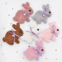Padded Plush Patches Cute Rabbit With Bow Appliques Rhinestone Baby Clothing Diy