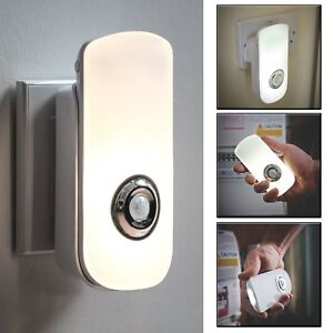 Rechargeable LED Safety Night Light Motion Sensor Children's Nursery Plug In