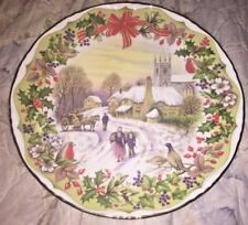 "Royal Albert ""Gathering Winter Fuel"" Bone China England Collector Plate New In B"