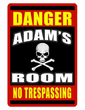 PERSONALIZED ROOM SIGN YOUR NAME ALUMINUM FULL COLOR CUSTOM SIGN Danger Skull407
