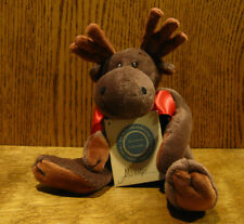 """Boyds Plush #51730 MILLIE LaMOOSE 10"""" NEW/Tag From Retail Store, Jointed Moose"""