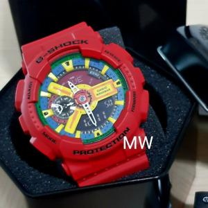 New Casio G-Shock Classic XL GA110FC Series Men's Alarms Worldtime Watch