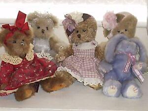 Teddy Bears x4 (Bearingtons) + x1 Rabbit(TY)