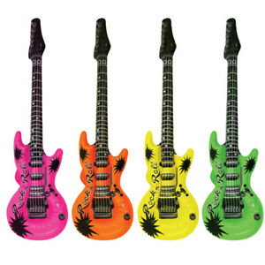 INFLATABLE GUITAR 106CM Fancy Dress Hen Stag Party Supply Blow Up Bag Prop lot