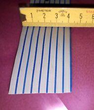 3m Flachbandkabel 40-Adrig 40 Adern Meterware grau / in 5er Schritten blaue Ader